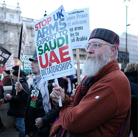 Protest against the Saudi Arabian-led intervention in Yemen, March 2018 Stop UK Arms Exports to Saudi UAE Dictatorships !.jpg