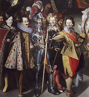Feast of Herod with the Beheading of St John the Baptist - The military group at the left