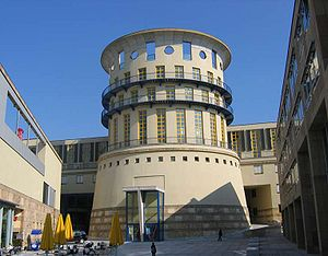 State University of Music and Performing Arts Stuttgart - Main entrance, building by James Stirling