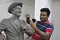 Subimal Das Making Raj Kapoor Sculpture - Kolkata 2017-08-08 4165.JPG