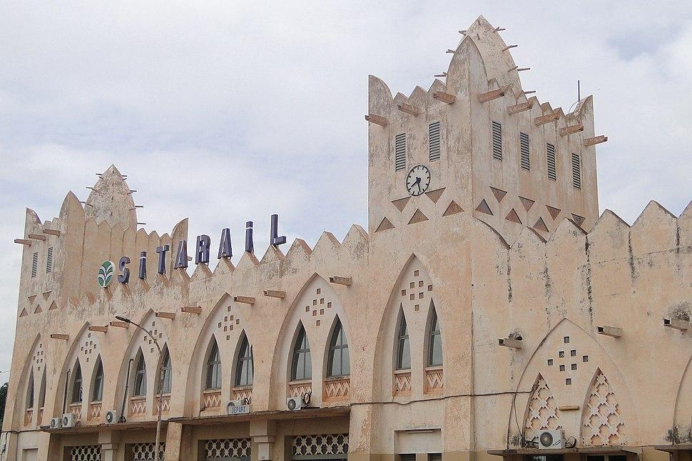 Sudanese Style Railway Station Bobo Dioulasso Burkina Faso