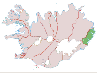 Suður-Múlasýsla County in Eastern Region, Iceland