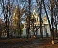 Sumy Asmolova park and Trinity cathedral.JPG