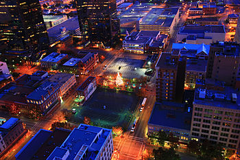 English: Fort Worth Sundance Square Christmas ...