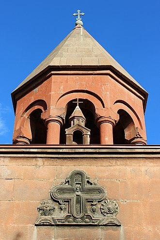 Zoravor Surp Astvatsatsin Church - Image: Surp Zoravor Astvatsatsin Church Bell Tower 2