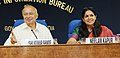 Sushil Kumar Shinde holding a press conference to present the Report Card of the Ministry of Home Affairs for the month of June 2013, in New Delhi. The Principal Director General (M&C), Press Information Bureau.jpg