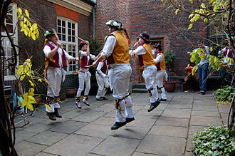 Sutton House, London - Morris Dance performance in the courtyard of Sutton House
