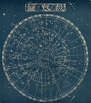 Chinese constellations - Reproduction of the Suzhou star chart (13th century)