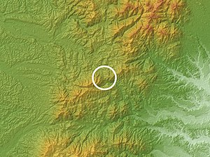 Suzuka Pass Relief Map, SRTM-1 (marked).jpg
