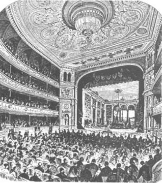 Swedish Theatre (Stockholm) - The Swedish Theatre in Stockholm at the opening in 1875