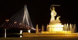 Transport in Warsaw - Świętokrzyski Bridge