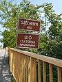 Széchenyi Bridge and Sió canal name signs, 2019 Siófok.jpg