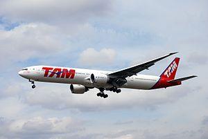 LATAM Brasil - LATAM Brasil Boeing 777-300ER still in TAM Brasil livery