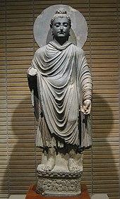 Statua del Buddha del Regno di Gandhāra.