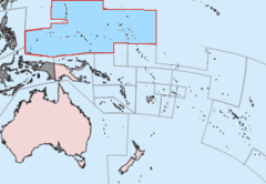 Kort over førvaltarskapområdet i Stillehavet.