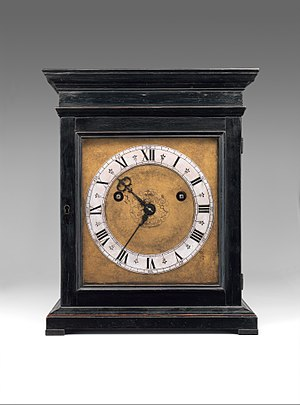 Edward East (clockmaker) - Image: Table or bracket clock MET DP349141