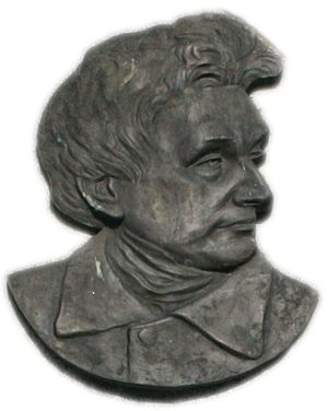 John Hogan (sculptor) - Plaque in Tallow at the parish hall to commemorate John Hogan