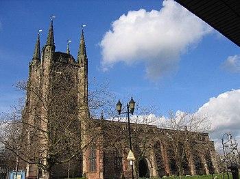 English: Tamworth Church, Tamworth, Staffordshire.