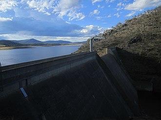 Tantangara Dam - Image: Tantangara Dam, on Murrumbidgee River, NSW