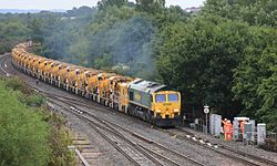 Taunton East - Freightliner 66599 with HOBC.JPG