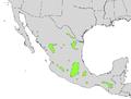 Taxodium mucronatum range map.png