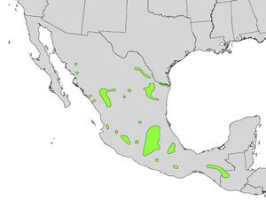 Taxodium mucronatum - Image: Taxodium mucronatum range map