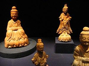 Goguryeo - Seated buddhas and bodhisattvas from Wono-ri, Goguryeo.