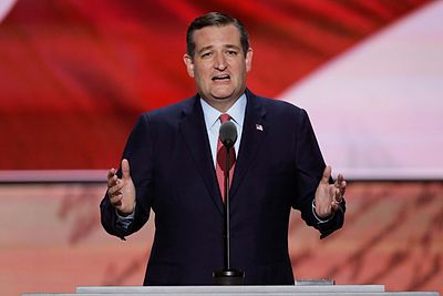 Cruz at the 2016 Republican National Convention, July 20, 2016 Ted Cruz 2016 RNC (2).jpg