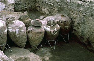 Haifa - Jars excavated at Tell Abu Hawam