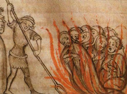 火刑に処される騎士団員