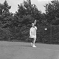 Tennis Holland tegen Duitsland op Beekhuizen Trudy Groenman, Bestanddeelnr 912-8342.jpg