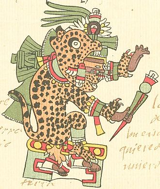 Tepēyōllōtl - Tepeyollotl in the Codex Telleriano-Remensis.