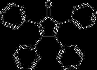 Tetraphenylcyclopentadienone - Image: Tetraphenylcyclopent adienone