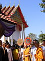 Thai Buddhist monk & fan of Thai monk rank 01.jpg