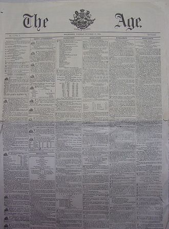 The Age - A copy of the first edition of The Age