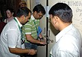 The Electrol Officials desealing the strong room in the presence of the Political Parties Agents, at the North-West Delhi Parliamentary Constituency Votes Counting Centre of General Election-2009, in Pitam Pura, Delhi.jpg