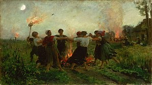 Saint John's Eve - The Feast of Saint John, by Jules Breton (1875).