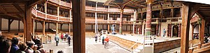 1599 in literature - Shakespeare's Globe theatre (modern replica)