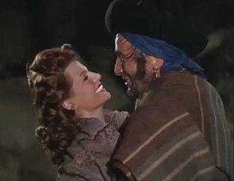 The Loves of Carmen (1948 film) - Rita Hayworth and Joseph Buloff in The Loves of Carmen