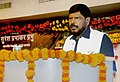 The Minister of State for Social Justice & Empowerment, Shri Ramdas Athawale addressing the gathering at a function, in Mumbai on August 22, 2016.jpg