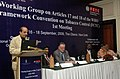 The Minister of State of Health and Family Welfare, Shri Dinesh Trivedi addressing at the inaugural session of Working Group Meeting of WHO Framework Convention on Tobacco Control, in New Delhi on September 16, 2009.jpg