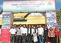 The Parliamentary Secretary, Shri K. Lalrinthanga and officials, at the Public Information Campaign, at Saipum village of Kolasib District, in Mizoram on November 12, 2015.jpg