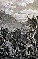 The Phillip Medhurst Picture Torah 414. Amalek fights with the Israelites. Exodus cap 17 vv 8-13. Marillier.jpg