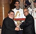 The President, Shri Pranab Mukherjee presenting the Padma Shri Award to Shri Neil Herbert Nongkynrih, at a Civil Investiture Ceremony, at Rashtrapati Bhavan, in New Delhi on April 08, 2015.jpg