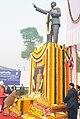 The President, Smt. Pratibha Devisingh Patil paying floral tributes to Dr. B.R. Ambedkar on his Mahaparinirvan Diwas, in New Delhi on December 06, 2010.jpg