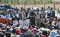 The Prime Minister, Dr Manmohan Singh assures to take necessary actions to expedite relief operations to rehabilitate the flash flood victim at the relief camp, in Choglamsar, Leh, Jammu & Kashmir on August 17, 2010.jpg
