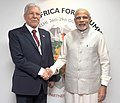 The Prime Minister, Shri Narendra Modi meeting the Minister of Foreign Affairs of Tunisia, Mr. Taieb Baccouche, on the sidelines of the 3rd India Africa Forum Summit 2015, in New Delhi on October 29, 2015.jpg