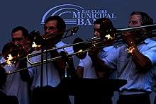 Sezione tromboni di una banda musicale