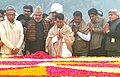 The Union Minister for Civil Aviation, Shri Ajit Singh paying homage to the former Prime Minister, Late Ch. Charan Singh on his 110th birth anniversary, at Kisan Ghat, in Delhi on December 23, 2012.jpg