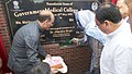 The Union Minister for Health & Family Welfare, Shri J.P. Nadda and the Chief Minister of Jammu and Kashmir, Ms. Mehbooba Mufti laid the foundation stone for the new Medical College, at Anantnag, in Jammu and Kashmir.jpg